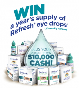 Allergan Australia – Refresh – Win a major prize of $10,000 cash OR 1 of 20 minor prizes of a year's supply of Refresh eye drops
