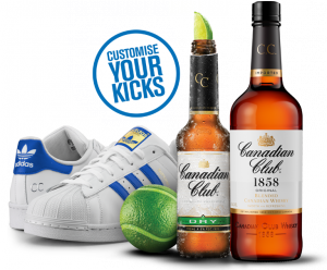 Beam Suntory – Canadian Club – Win 1 of 200 pairs of personalised Adidas sneakers valued at $180 each