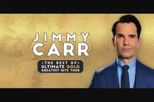 ABC Music – Win Ticktes to See Jimmy Carr Live (prize valued at $140)