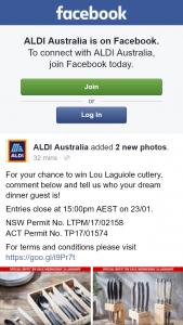 Aldi Australia – Win Lou Laguiole Cutlery