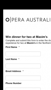 Allerta – Win One of 6 Dinners for Two to Maxim's
