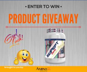 Amino Z – Win a Tub of Ehp Labs Isopept Zero 8pm