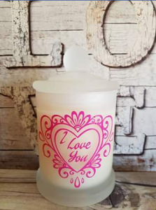 Astara candles – Win this Beautiful I Love You Candle