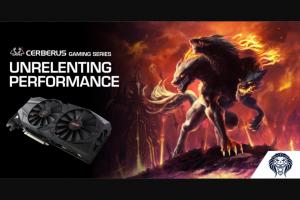 ASUS Australia – Win an Asus Cerberus Gtx 1070 Ti Graphics Card