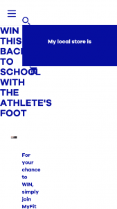 Athletes Foot – Win this Back to School With The Athlete's Foot (prize valued at $4,452)