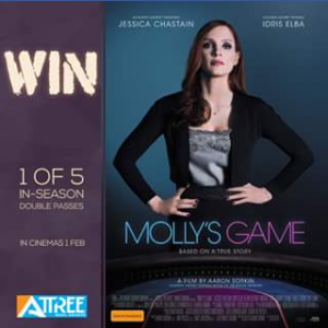 Attree Real estate – Win 1 of 5 Double Passes to See Molly's Game