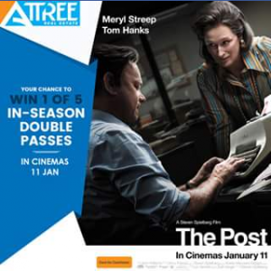 Attree real estate – Win 1 of 5 In-Season Double Passes to See The Post Movie