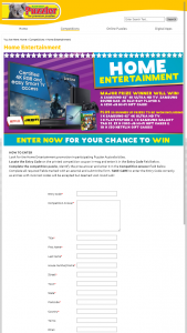 Australian Puzzler Media – Win Home Entertainment Competition (prize valued at $8,184)