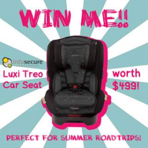 BabyCo – Win an Infasecure Luxi Treo Carseat In Ebony (prize valued at $499)