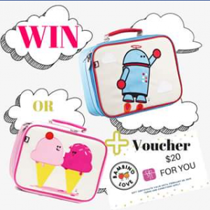 Bambino Love – Win Back to School Lunch Bag & Bento Box Pack (prize valued at $69.95)