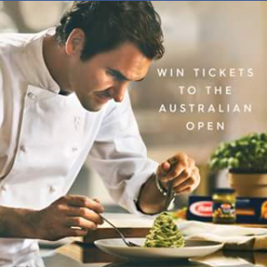 Barilla – Win Tickets Tennis Australia Open Incl Flights and Accomm (prize valued at $3,169)