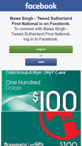 Bawa Singh – Win a $100 Coles Myer Gift Card Or $100 Bunnings Gift Card