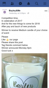 Bayley&Me – Win a Medium Candle