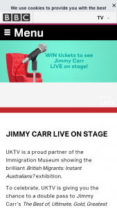 BBC Australia – Win a Double Pass to See Jimmy Carr Live on Stage In Melbourne on Jan 27