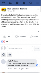 BCC cinemas Toombul – Win One of Five Swinging Safari Double Passes