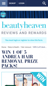 Beauty Heaven – Win 1 of 5 Andrea Hair Removal Prize Packs Promotion (prize valued at $369)