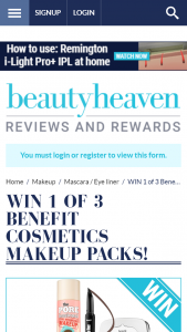 Beauty Heaven – Win 1 of 3 Benefit Cosmetics Makeup Packs