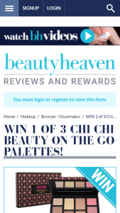 Beauty Heaven – Win 1 of 3 Chi Chi Beauty on The Go Palettes
