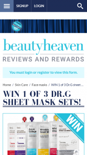 Beauty Heaven – Win 1 of 3 Drg Sheet Mask Sets Promotion (prize valued at $75)