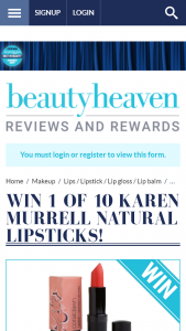 Beauty Heaven – Win One of 10 Karen Murrell Natural Lipsticks