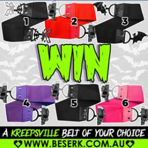 Beserk clothing – Win a Kreepsville Belt of Choice