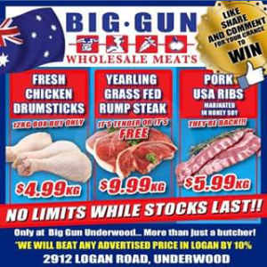 Big Gun Wholesale Meats Underwood – Win $100 Voucher