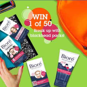 "Biore Australia FB – Win 1 of 50 ""break Up With Blackhead Packs"" Tell Us Below How You Will End Your School Holidays"