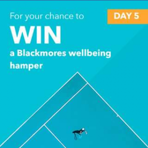 Blackmores – Win a Blackmores Wellbeing Hamper (prize valued at $350)