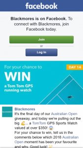 Blackmores – Win a Tomtom Gps Sports Watch (prize valued at $350)