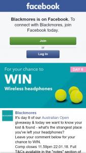 Blackmores – Win Wireless HeaDouble Passhones