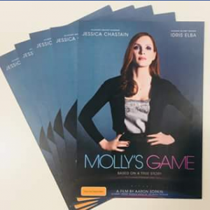 Booktopia – Win One of Five Molly's Game Double Passes