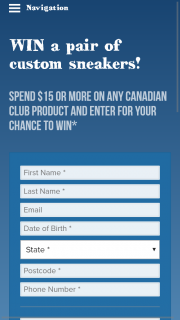 "Bottlemart Sip N Save Lmg Stores Canadian Club Unique Code Spend $15 Or More – Win a Pair of Custom Sneakers"" Promotion Terms and Conditions (prize valued at $180)"