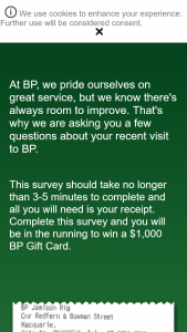 BP Australia – Make a participating purchase then fill out survey to – Win a $1000 Bp Gift Card (prize valued at $3,000)