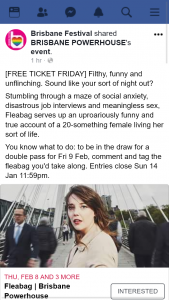 Brisbane Festival – Win a Double Pass to See Fleabag Brisbane Powerhouse