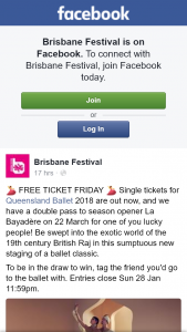 Brisbane festival – Win a Double Pass to See La Bayadere