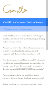 Camilia – Win a Au$1000 RRP Camilla Wardrobe (prize valued at $1,000)