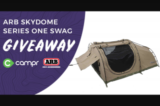 CamprWin a ARB Skydome Series one swag – Win this Heavy Duty 100% Waterproof Arb Skydome Series One Swag (prize valued at $430)
