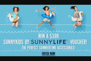 Channel 7 – Sunrise – Win $300 Sunny Kids By Sunnylife Voucher
