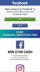 Cigno loans – Win One of Five $100 Cash