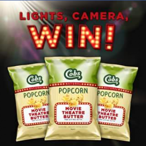 Cobbs – Win 1 of 100 Cobs Movie Theatre Butter Sampler Boxes Just In Time for Movie Season