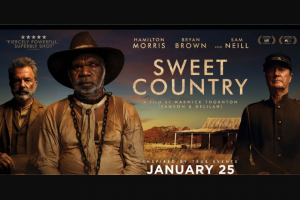 Community News – Win 1 of 20 Double In-Season Passes to Sweet Country (prize valued at $42)