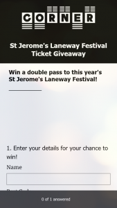 Corner Hotel – Win a Double Pass to this Year's St Jerome's Laneway Festival