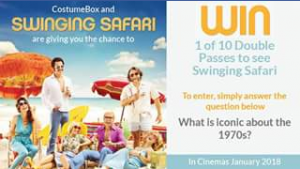 Costume Box – Win 1 of 10 Doubles Pass to See Swinging Safari Thanks to Becker Film Group
