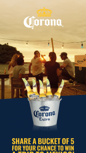 Crown-Corona – Win a Trip to Mexico Or One of 100 Other Prizes (prize valued at $14,950)
