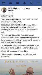 DB Publicity – Win One of Ten Copies of Life Is Fine Cd Albums