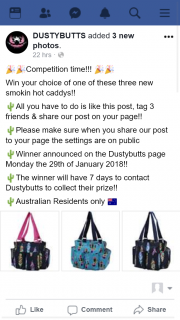 DustyButts – Win Your Choice of One of These Three New Smokin Hot Caddys