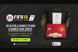 EA Sports – Win a Signed Manchester United Team Jersey