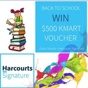 Eboni Stocks Harcourts Signature – Win a $500 Kmart Voucher (prize valued at $500)