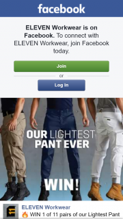 Eleven Workware – Win 1 of 11 Pairs of Our Lightest Pant Ever (prize valued at $74.95)
