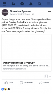 Florentine Eyewear – Win a Pair of Oakley Radarpace Smart Sunglasses (prize valued at $600)